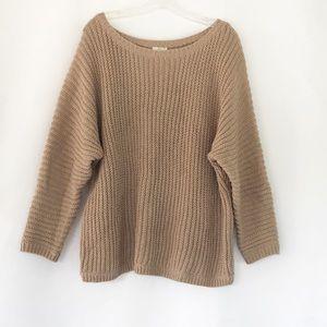 Joie Chunky Knit Beige Dolman Sweater